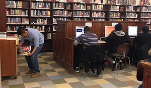 Photo of the Harlem Library taken by Georgia Stefos.