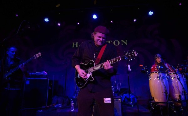 Michael Shereikis, lead vocalist and guitarist for D.C.-based afrofunk band Chopteeth, performs with the band at the Hamilton in Northwest on Friday, March 14.