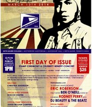 First Day of Issue Stamp Ceremony and Celebrity Benefit Concert Invitation