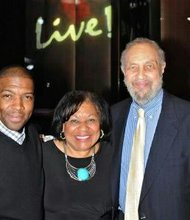 Baltimore City NAACP President Tessa Hill-Aston (center) was among those honored by the Maryland Live! Casino and the MD-Washington Minority Companies Association for Black History Month on Tuesday, February 25, 2014. She was joined by Adrian Muldrow, 3rd Vice President of the Baltimore City NAACP (right) and Joseph Aston, Executive Committee member of the Baltimore City NAACP (left).
