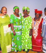 African women celebrate at the UN