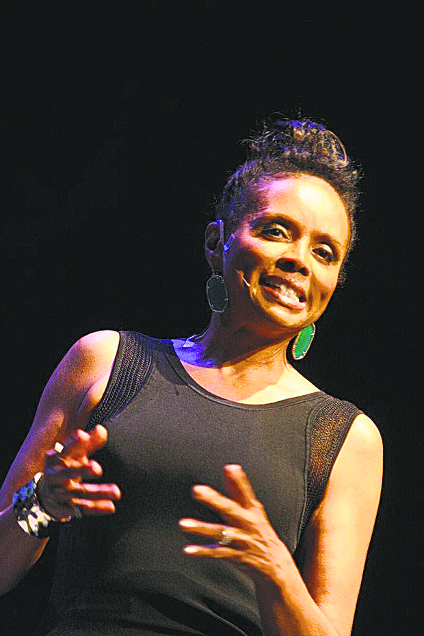 "Debbi Morgan performed an excerpt from her one-woman play ""The Monkey on My Back."""