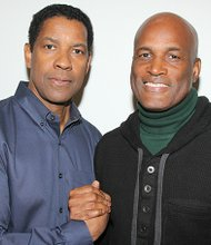 Denzel Washington with director Kenny Leon