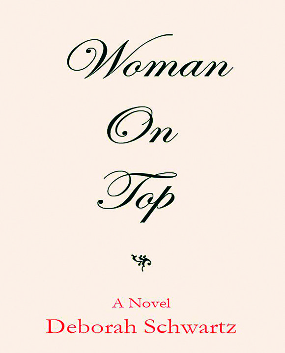 On book woman top