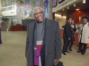 Woodie King Jr., the founder of the New Federal Theatre (NFT), was excited as he arrived at the NFT's 44th anniversary gala.