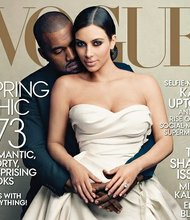 Vogue Magazine cover featuring Kim Kardashian and Kanye West