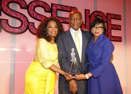 Oprah Winfrey and Sidney Poitier presented the Trailblazer Award to Cheryl Boone Isaacs at the Essence Black Women in Hollywood ...