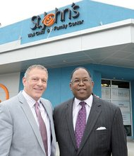 St. John's President and CEO Jim Mangia and Supervisor Mark Ridley-Thomas