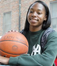 Oshaela Gray has a lot of speed on the basketball court, and is equally talented in the classroom, holding a 3.4 grade point average./ OW Photo by Jason Lewis