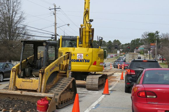 Traffic will be moving slowly on Flakes Mill Road in Decatur through Dec. 15 as work crews install 4.3 miles ...