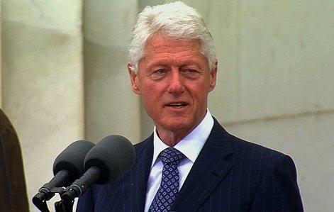 A pair of lines praising Martin Luther King, Jr. were scrubbed from an early version of President Bill Clinton's 1998 ...