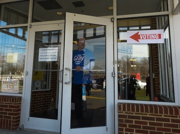D.C. Mayor Vincent Gray cast his ballot April 1 in the Democratic primary election at his Ward 7 precinct. Gray faces seven candidates in his re-election bid.