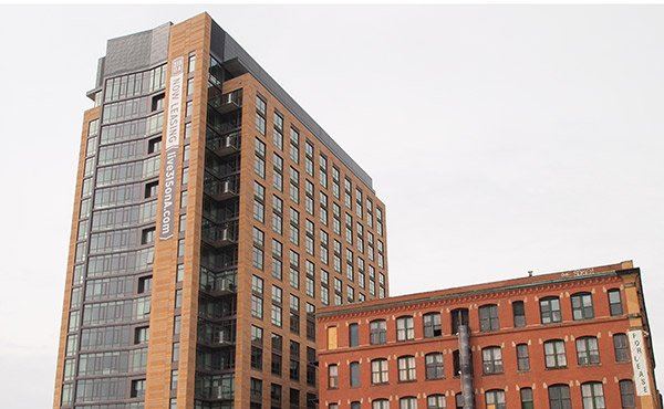 Luxury units in buildings like 315 A Street in South Boston accounted for 69 percent of all units built in Boston. While luxury units are affordable to households with incomes above $100,000, the city's median household income is just $53,900.