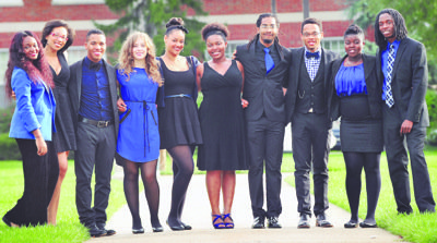 Howard University's award-winning vocal jazz ensemble Traces of Blue, formerly known as Afro Blue (Courtesy photo)