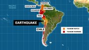Chile, Peru, and Ecuador are under a tsunami warning after an 8.2-magnitude earthquake hit off the coast of Chile Tuesday, April 1, 2014. Colombia, Panama and Costa Rica are under a tsunami watch.