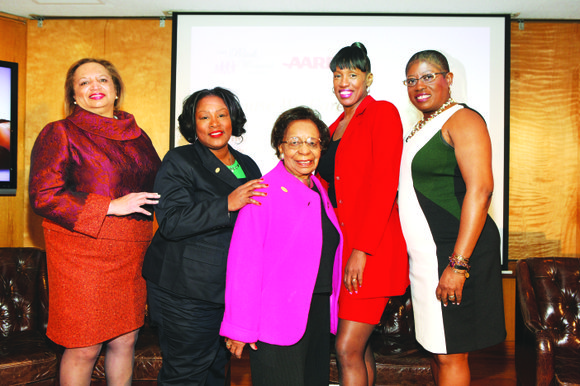 "The Black Women's Agenda partnered with the AARP today to host ""Because We Care,"" the first of a series of ..."