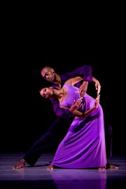 "Ailey II's Tyler Brown and Gentry Isaiah George in Robert Battle's ""We"""