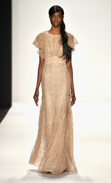"Evening elegance showed up best for fall 2014 at Badgley Mischka's show during Fashion Week in New York. ""Our style ..."