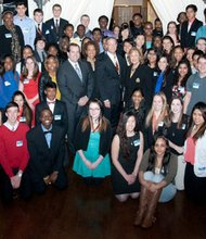 One hundred of the 2014 Maryland Leaders and Achievers recipients received $1,000 scholarships
