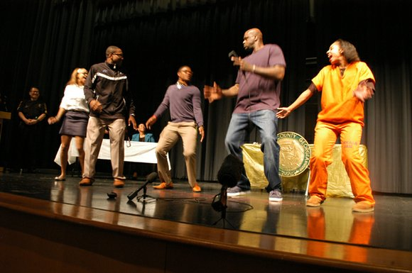 Retired NBA star Shaquille O'Neal visited Arabia Mountain High School in Lithonia on April 3 to stress highway safety and ...