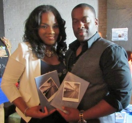 Tyreen King-Maddox and her husband at a book signing.