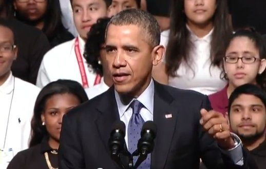 President Obama spoke Monday at Bladensburg High School in Bladensburg, Md., announcing the winners of a competition he launched in the fall to ultimately give high school students access to real-world career skills and college-level courses.