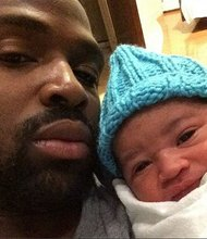 Ravens WR Torrey Smith posted a selfie with his new son on Instagram