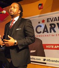 Attorney Evandro Carvalho won the Democratic primary in the special election for the 5th Suffolk District seat formerly occupied by Carlos Henriquez with 49 percent of the vote.