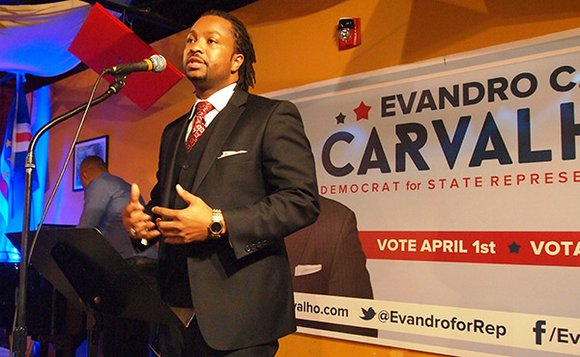 Political neophyte Evandro Carvalho cleared the field in the five-person Democratic primary special election for the 5th Suffolk District seat ...