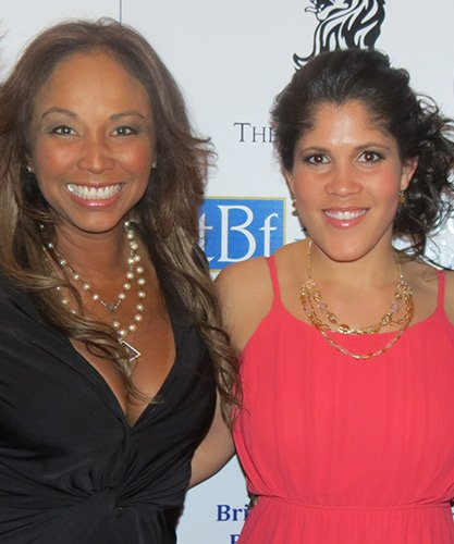 "(l-r) Jaden's Ladder co-founder Oneta Bobbett and Jenn Penton from TNT's ""Boston's Finest"" at the ""Bright Lights, Big City Black & White Gala."""
