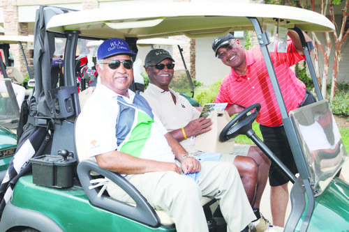 Several area ministers, many who enjoy the game of golf, are hoping to score a hole-in-one for hunger.