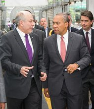 Governor Deval Patrick tours the Mexico City Metrobus System as part of his Latin American trade tour.