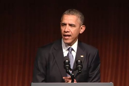 President Obama lauded Lyndon Johnson on Thursday during a celebration of the 50th anniversary of the Civil Rights Act of ...