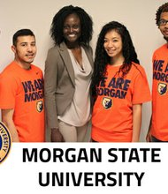 Morgan State University team members James Hayes-Barber; Jaime Arribas; Dr. OluwaTosin Adegbola, team coach; Riyo Perry; and Micheal Osikomaiya