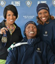 Mayor Stephanie Rawlings-Blake, O.J. Brigance and his wife Chanda Brigance.