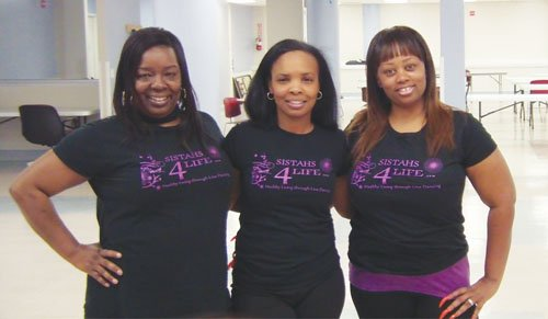 Charletta Dizer-Malone (from left), Selena Mitchell and Kimberly Turner-Williamson invite members of the community to get healthy while having fun with their workout class called 'Soulful Line Dancing.'
