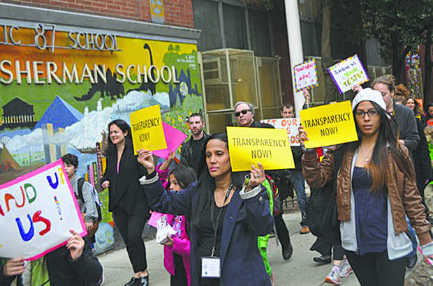 City schools protest against Common Core