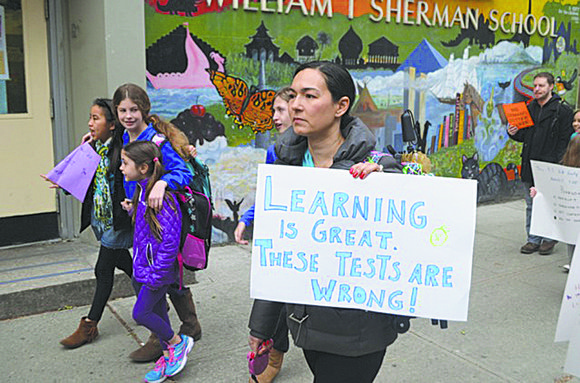 Last week, teachers, administrators, students and parents from P.S. 87 on the Upper West Side were among protestors at 31 ...