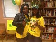 Southwest DeKalb athlete Lauren Jones (right) with her mother Dorian Jones.