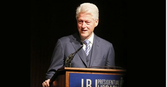 Former President Bill Clinton praised President Lyndon B. Johnson for signing the 1964 Civil Rights Act and the 1965 Voting ...