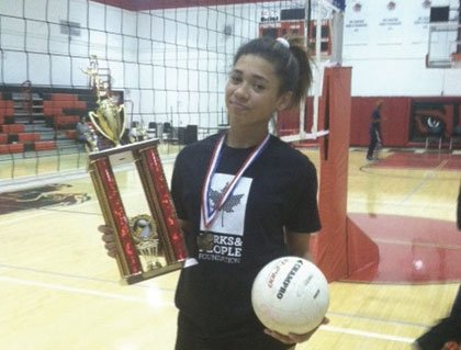 Asia Robertson has played volleyball at The SEED School of Maryland for the past three years.