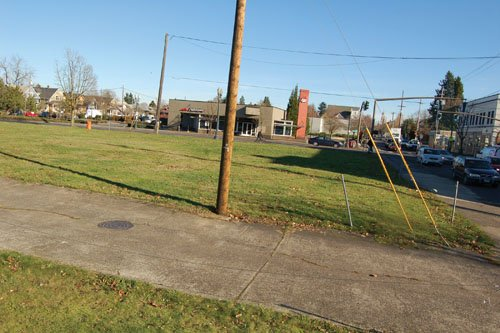 A vacant lot on Northeast Martin Luther King Jr. Boulevard and Alberta Street awaits development. Mayor Charlie Hales announced Tuesday that he was not successful in his effort to get Trader Joe's to reconsider building a store on the site.