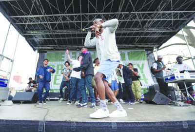 A host of performers entertained the crowd on April 19 during the second annual Broccoli City Festival on the grounds of St. Elizabeths' East Campus.