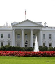The White House grounds on September 28, 2012.
