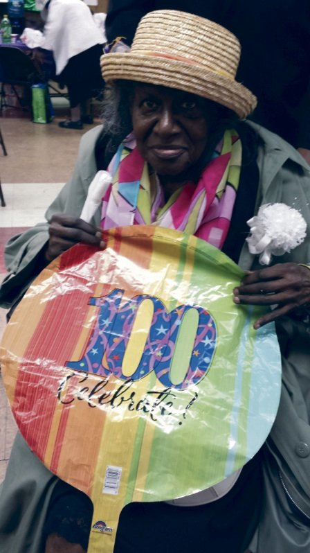 On April 24, Canaan Senior Center celebrated Maudry McCullough's 100th birthday