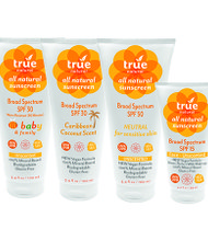 True Natural's healthy skin care products