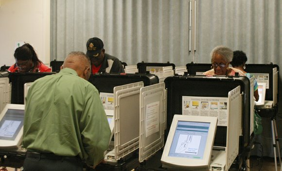 Through Wednesday, 1,577 voters had cast early ballots for the May 20 elections in DeKalb.