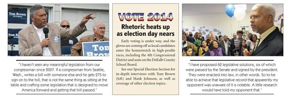 Early voting is under way, and the gloves are coming off as local candidates enter the homestretch in high-profile races, ...