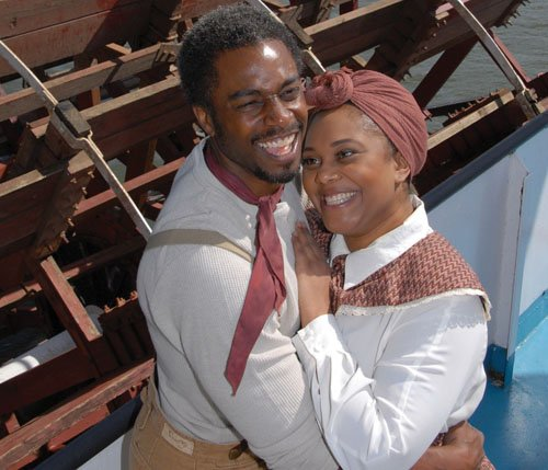 "Geoffery Simmons and Carmen Brantley-Payne star in the classical musical ""Show Boat,"" opening Saturday, May 2 and shows through June 8 at Lakewood Theatre Company in Lake Oswego."