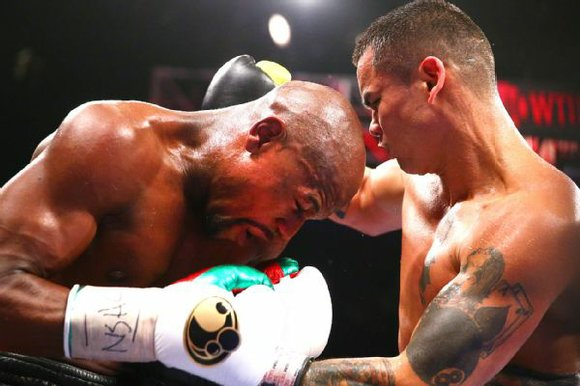 Fighting an aggressive opponent in Marcos Maidana, Floyd Mayweather got by via decision on Saturday night, remaining undefeated at 46-0.
